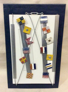 Artwork, Mixed Media With Signal Flags LIBERTY,  JUSTICE - Annapolis Maritime Antiques