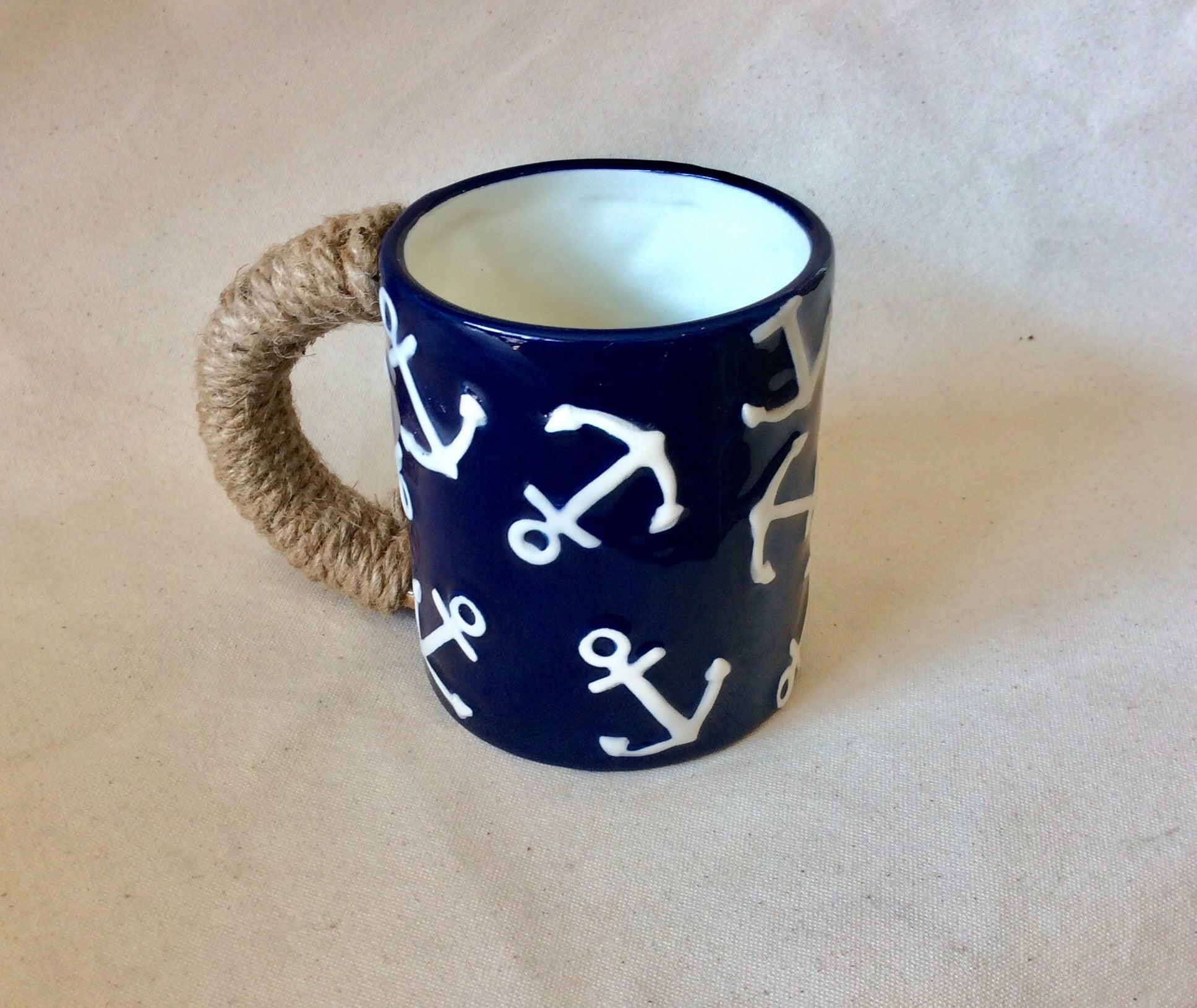 Mug, Anchor Navy