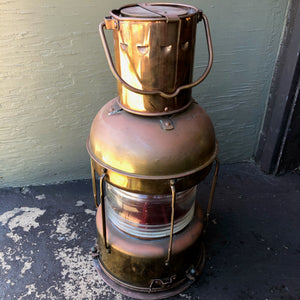 Copper Lifeboat Lantern - Annapolis Maritime Antiques