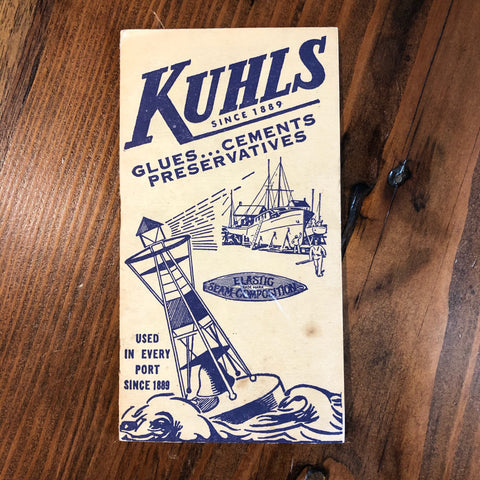 Vintage Kuhl's Booklet, Glues Cements Preservatives , c. 1930