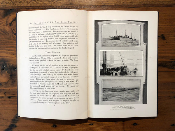 Book, U.S.S. Northern Pacific - Pre WW 1 - Annapolis Maritime Antiques