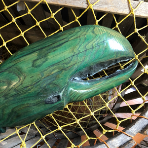 Green Lobster Claw, Wood Carving