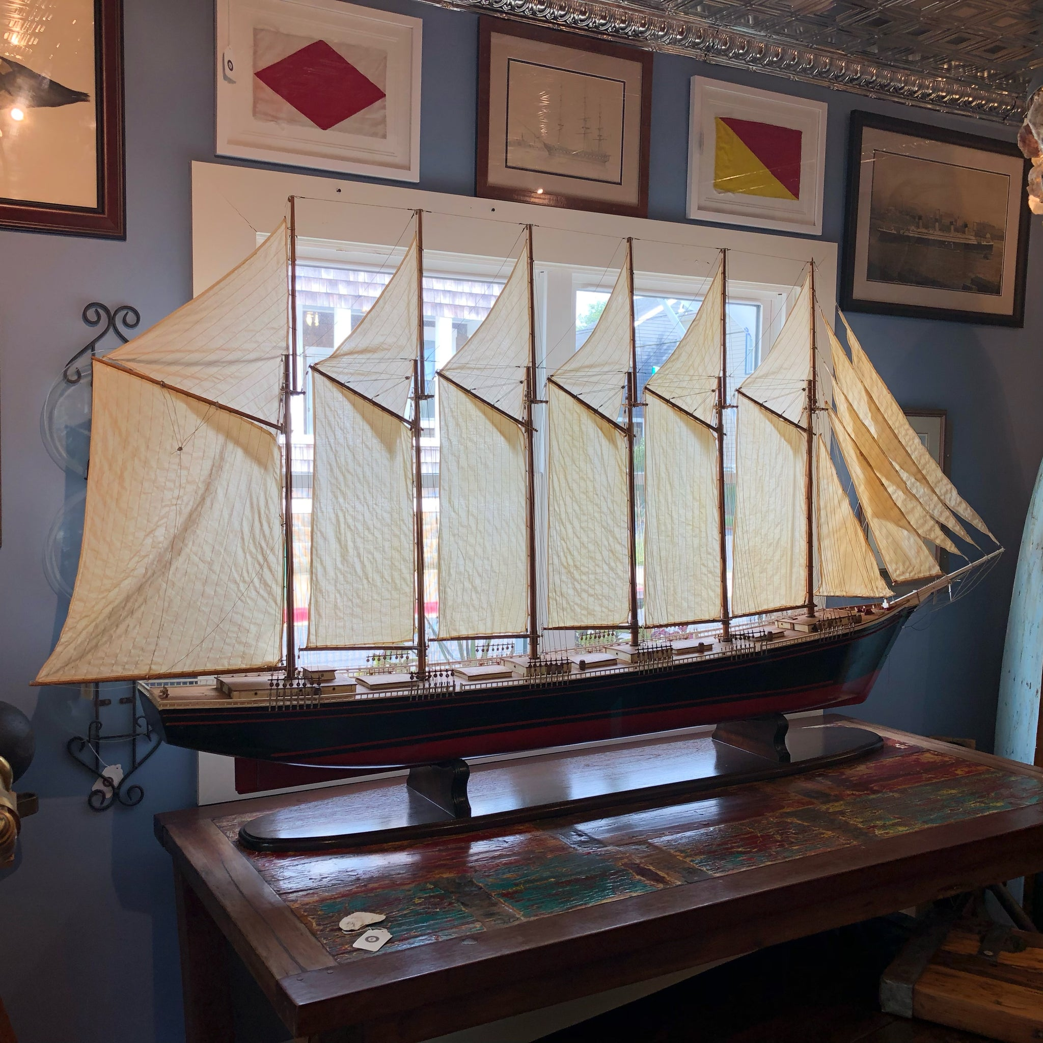 Wyoming Wooden Ship Model