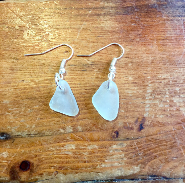 Earrings, Sea Glass, Dangling - Annapolis Maritime Antiques