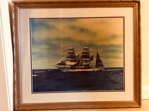"Art, Original Photograph of ""Horst Wessel"" aka USCG Cutter Eagle - Annapolis Maritime Antiques"