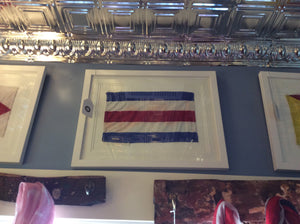 Art, Flag, Small Signal, Framed - Annapolis Maritime Antiques