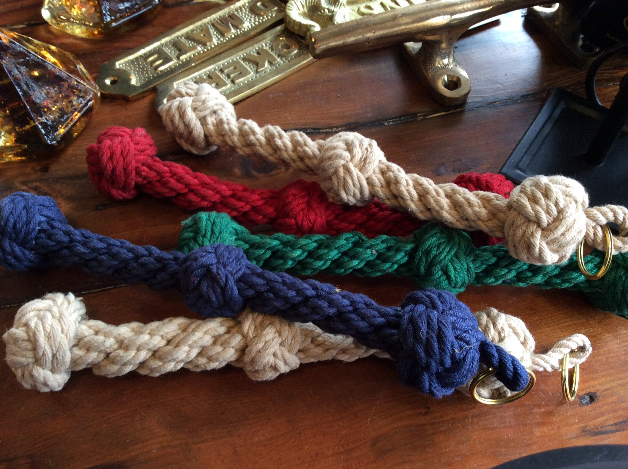 pull, ship's bell, three turk knots - Annapolis Maritime Antiques