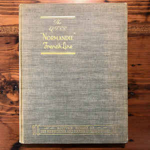 "Book, The Q.T.S.S. ""Normandie"" French Line - 1935 - Annapolis Maritime Antiques"