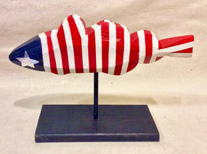 Fish, Red, White & Blue, Large - Annapolis Maritime Antiques