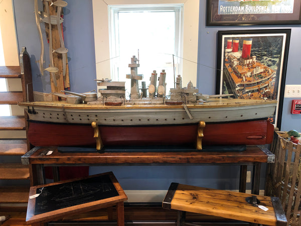 Large Model, USS Texas (BB-35) Trench Art