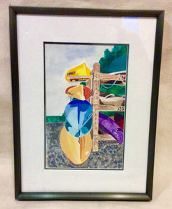 Art, Limited Edition, Judy Ward, Boat Rack - Annapolis Maritime Antiques