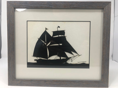 Artwork, Silhouette, Clipper Ship Port Aspect