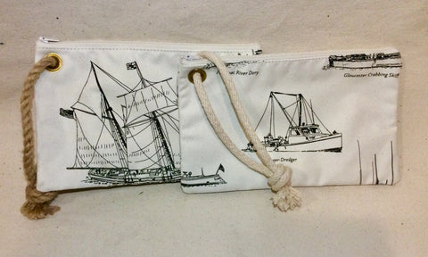 Bag with Chesapeake Boats Print - Annapolis Maritime Antiques