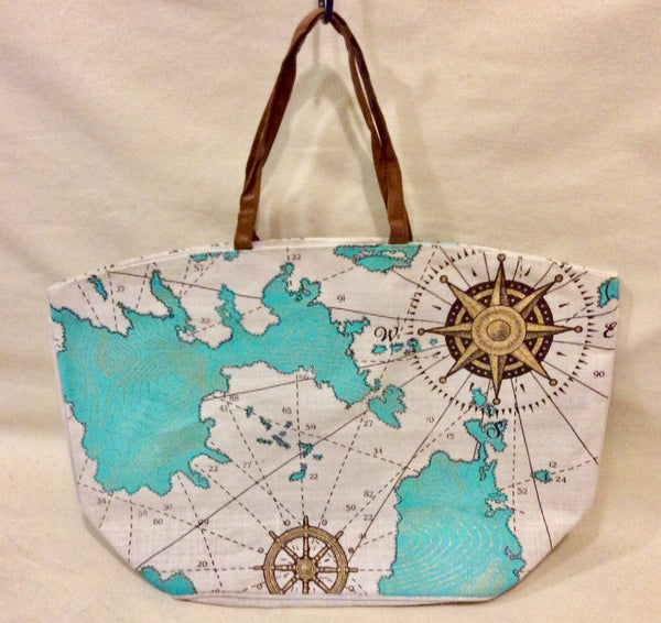 Tote Bag, nautical - Annapolis Maritime Antiques