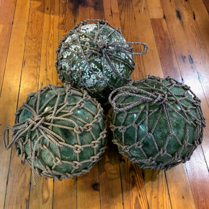 Salvaged Green Glass Float - Annapolis Maritime Antiques