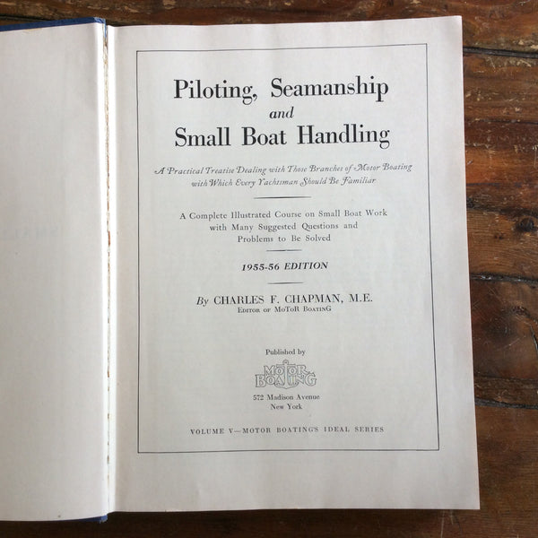 "Book; ""Piloting,Seamanship and Small Boat Handling"" 1955-56 Edition"