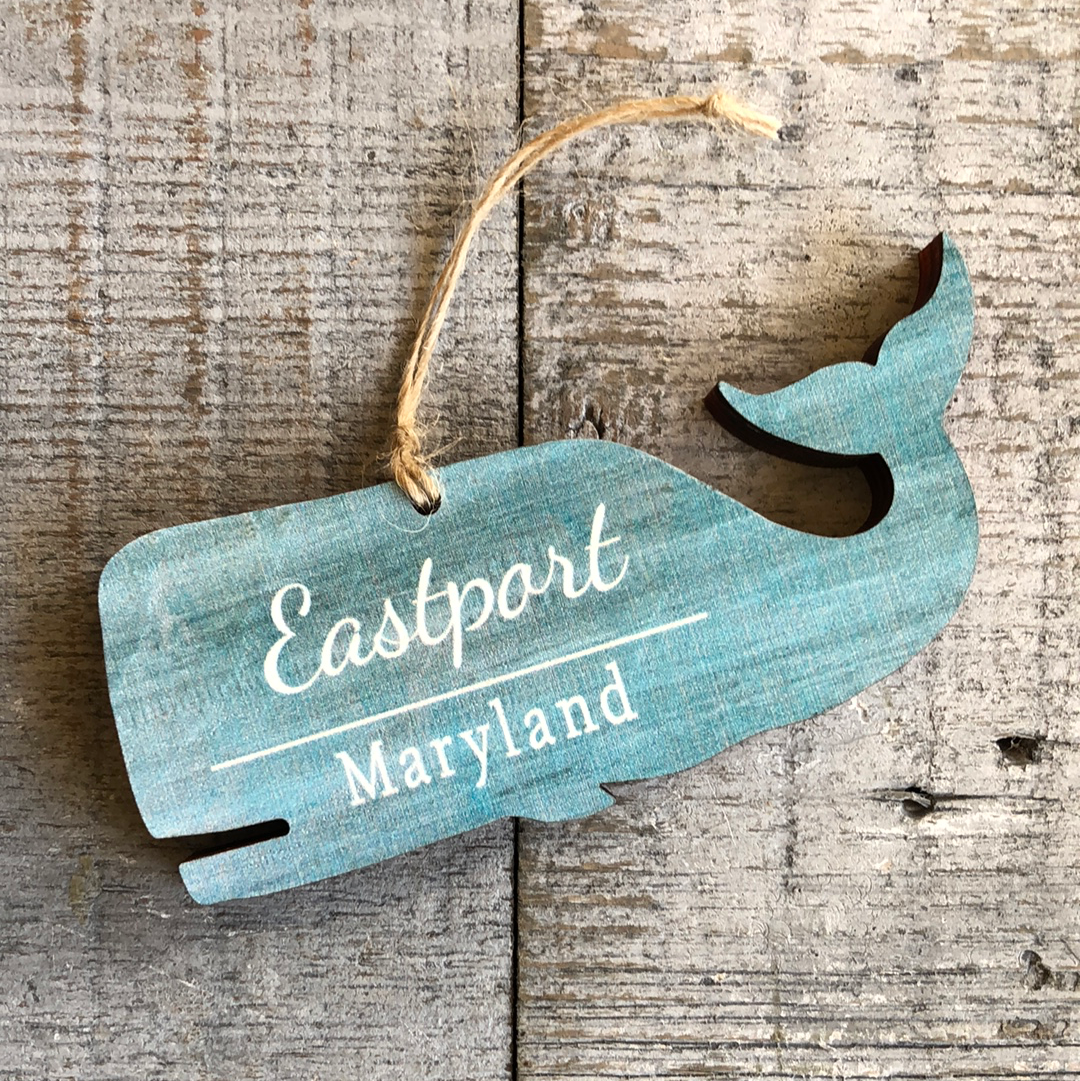 Whale Ornament, Eastport Maryland
