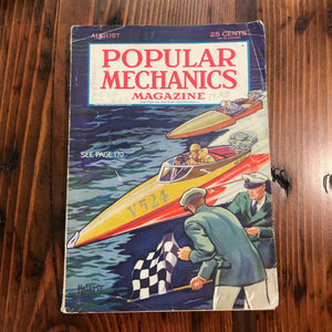 Popular Mechanics Magazine August 1933 - Annapolis Maritime Antiques