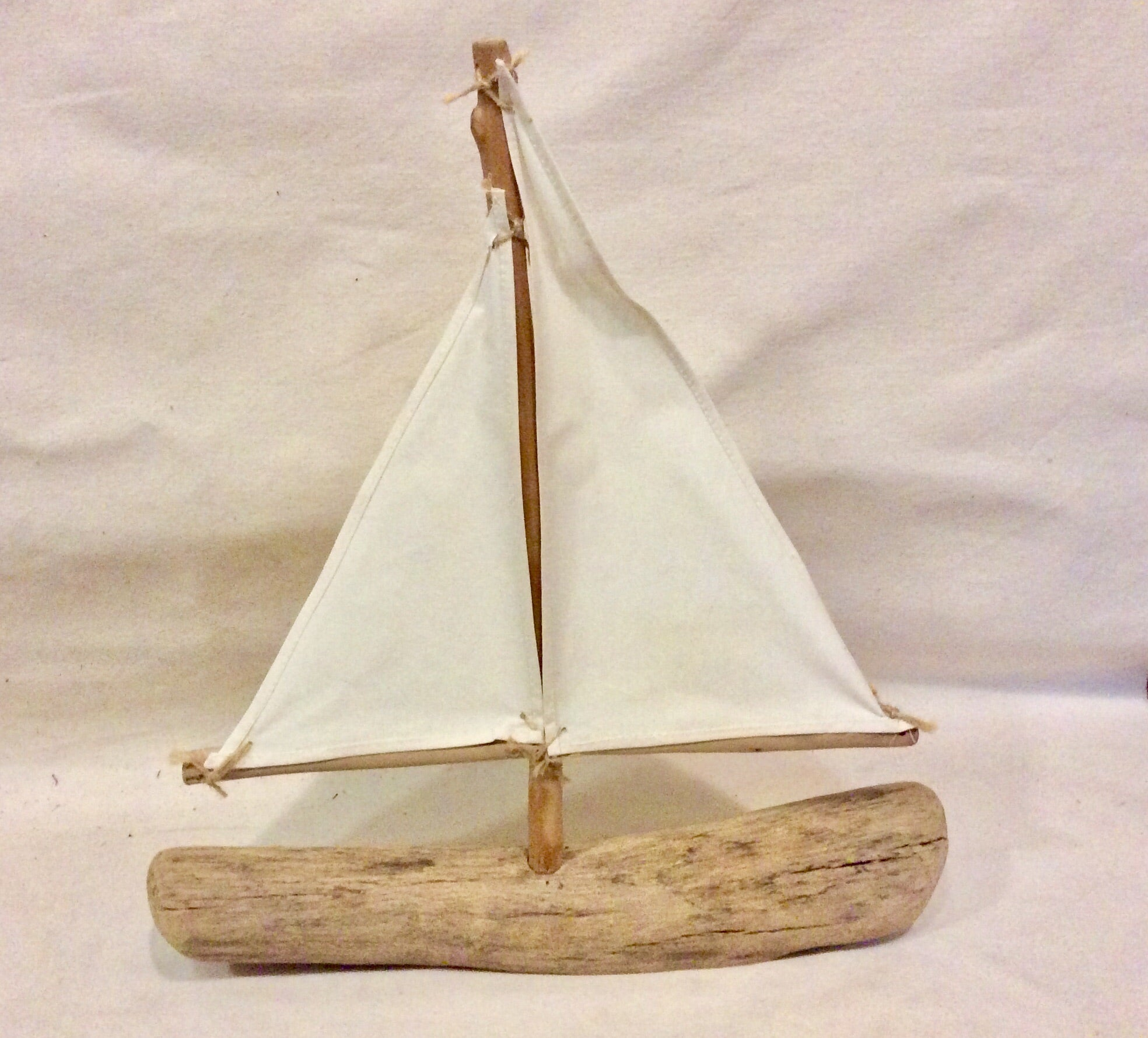Sailboat, Driftwood, Large - Annapolis Maritime Antiques