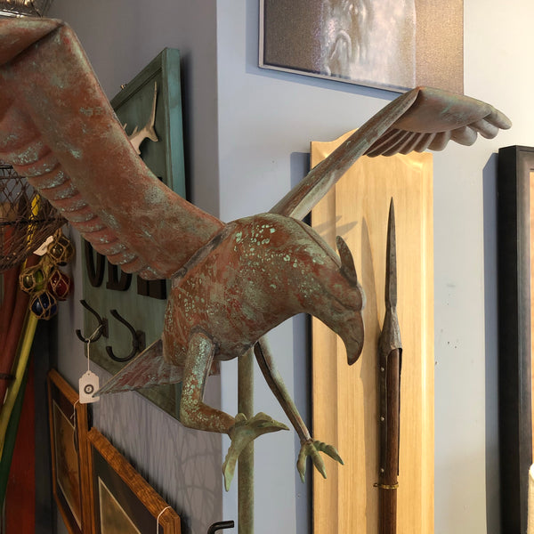 Weather Vane, Osprey, Copper with Steel Roof Mount, circa 1960's