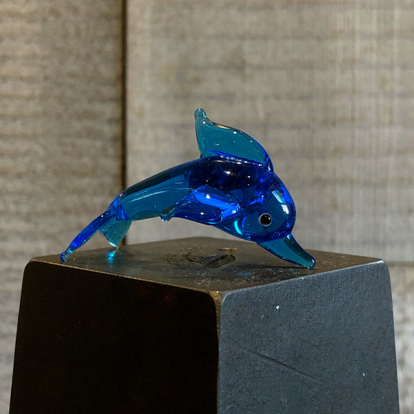 Solid Glass Dolphin (Small) - Annapolis Maritime Antiques