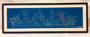 Art, Blueprint Original, Framed Victory Ship Diamond Head - Annapolis Maritime Antiques
