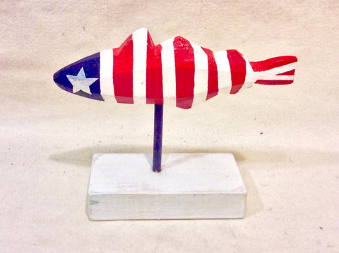 Fish, Red, White & Blue, Small - Annapolis Maritime Antiques