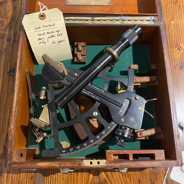 Sextant, Pioneer, 3/13/1948, US NAVY BUREAU OF SHIPS - Annapolis Maritime Antiques