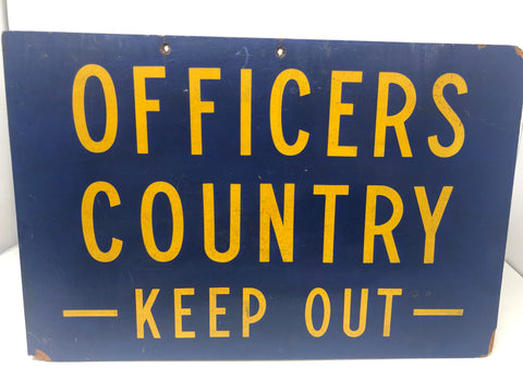 "Sign, ""Officer's Country"", USS Ranger CV-61"