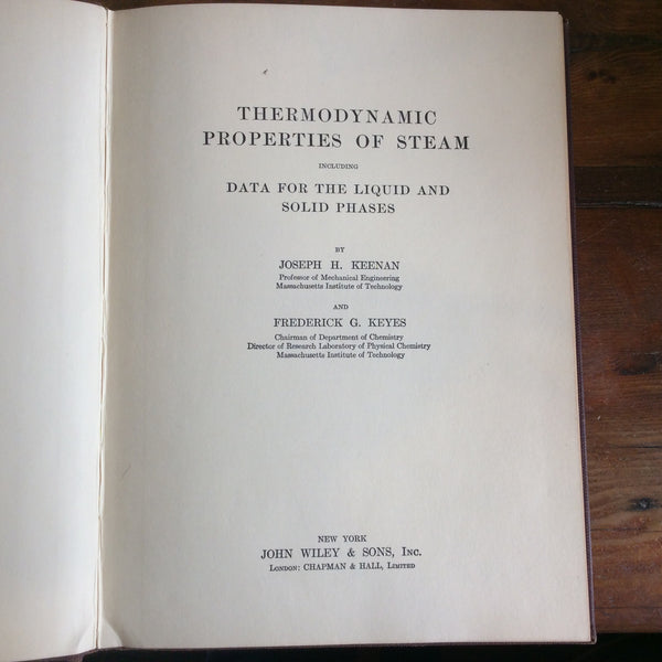 "Book; ""Thermodynamic Properties of Steam"" - Annapolis Maritime Antiques"