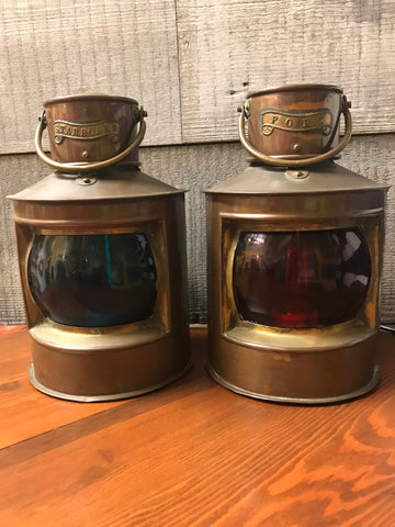 Pair of Vintage Port and Starboard Lights - Annapolis Maritime Antiques