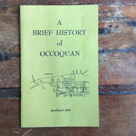 "Book/Pamphlet: ""A Brief History of Occoquan"""