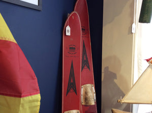 Water Skiis, Vintage, Pair, Red - Annapolis Maritime Antiques