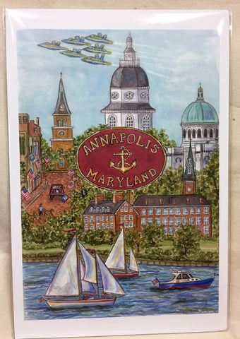 Artwork Poster, Annapolis-New Image, by Joan Nixon - Annapolis Maritime Antiques