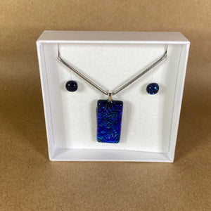 Solid Glass Necklace & Earring Set