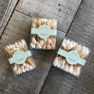 Box of 50 or 72 Shell Hors d'Oeuvre Toothpicks - Annapolis Maritime Antiques