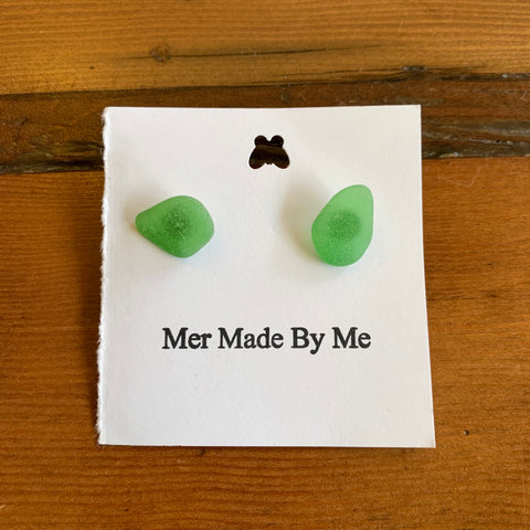 "Earrings, ""Mer Made By Me"", Sea Glass"