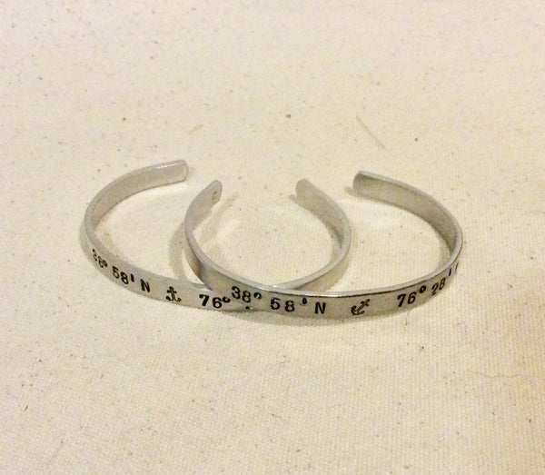 Bracelet, Eastport - Annapolis Hand Stamped Cuff - Annapolis Maritime Antiques