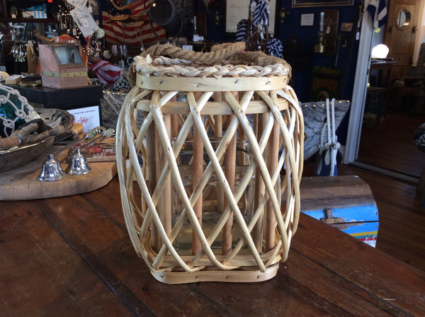 Lantern, Poplar Wood w/ Handle, Square, Large - Annapolis Maritime Antiques