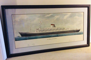 Advertising Poster of the SS Leonardo da Vinci - Annapolis Maritime Antiques