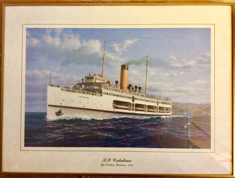 S.S. Catalina, Off Avalon, Summer of 1924, by Ken Marschall - Annapolis Maritime Antiques