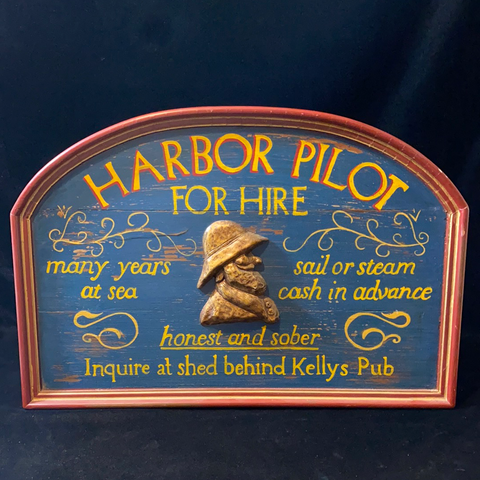 Sign, Harbor Pilot