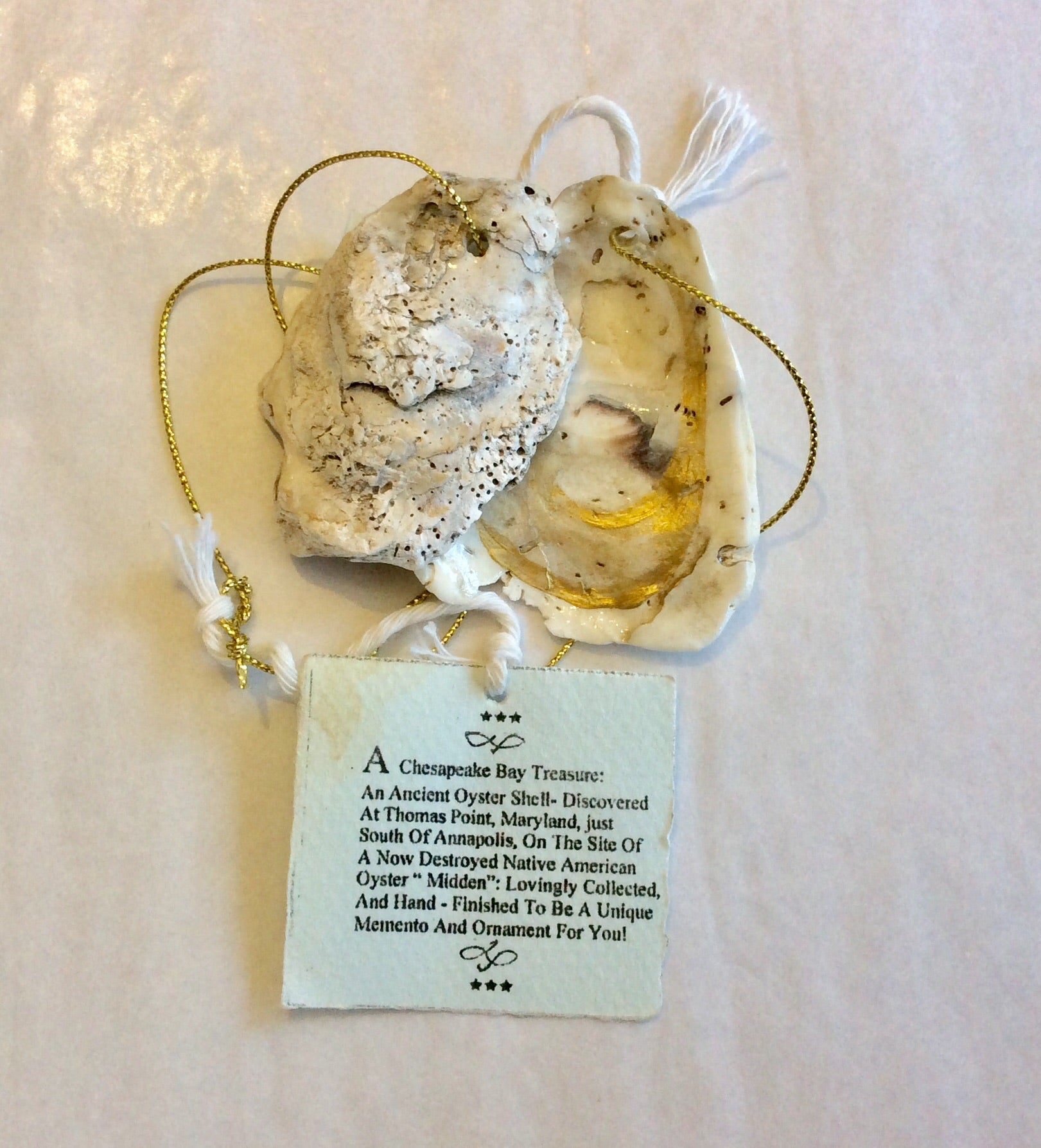 Oyster Shell Pendant, Thomas Point - Annapolis Maritime Antiques