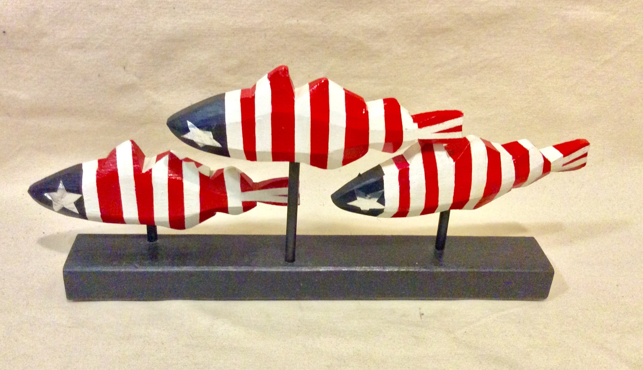 Fish, Red, White, & Blue, 3 together - Annapolis Maritime Antiques