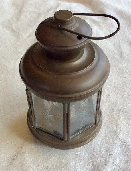 Lamp, Votive Candle, Engraved