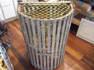 Lobster Trap, Authentic Down East Maine, with Lobsterman ID # - Annapolis Maritime Antiques