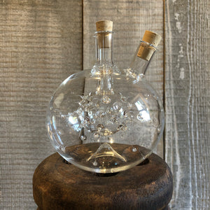 Handblown Glass, Oil and Vinegar Dual Bottle - Annapolis Maritime Antiques
