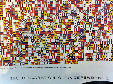 "Art, Declaration of Independence, Signal Flags, Unframed, 24"" x 27"", First Edition - Annapolis Maritime Antiques"