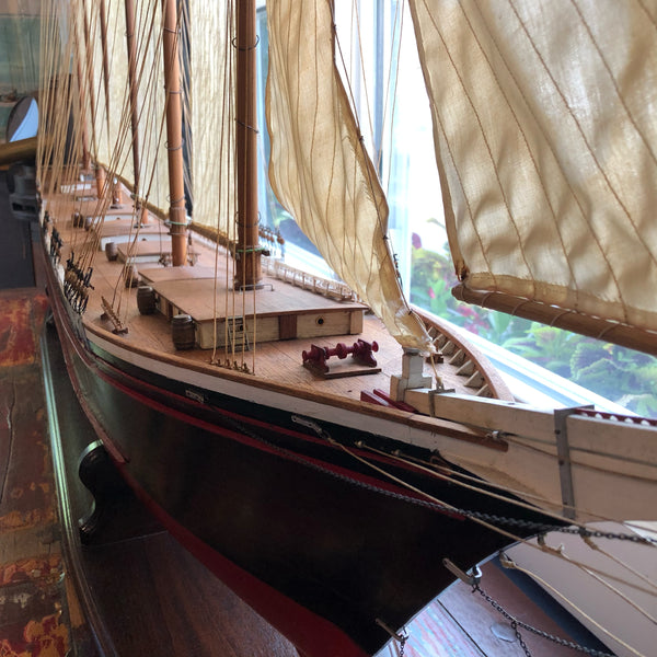 Wyoming Wooden Ship Model - Annapolis Maritime Antiques