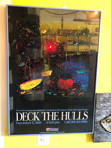 Framed poster print, Eastport Yacht Club Lights Parade 1988